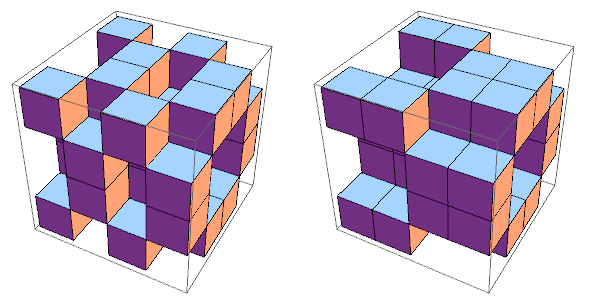 Three-dimensional generalisations of the Dürer bitlayers