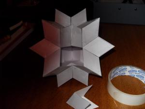 Partially completed rhombic hexecontahedron