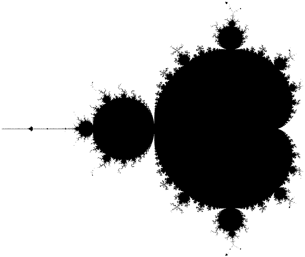 Monochromatic image of the Mandelbrot set