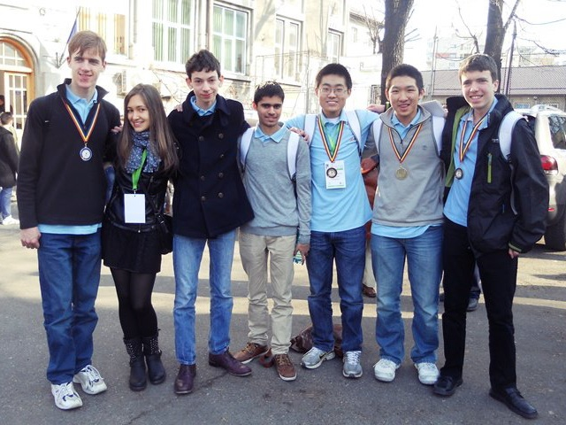 The British RMM team, and one of the guides. From left: Andrew, Silvia, Gabriel, Sahl, Daniel, Warren and Matei.